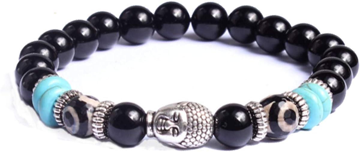 Piedra Pulsera de Yoga Pulsera de Energía con Perla para Damas y Caballeros