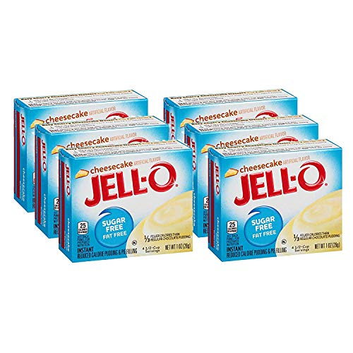 Jell-O Sugar-Free Cheesecake Instant Pudding Mix 1 Ounce Box (Pack of 6) ()