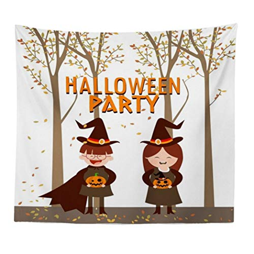 Unpara Halloween Pumpkin Tapestry Room Bedspread Wall Art Hanging Blanket Home Decor (E) -