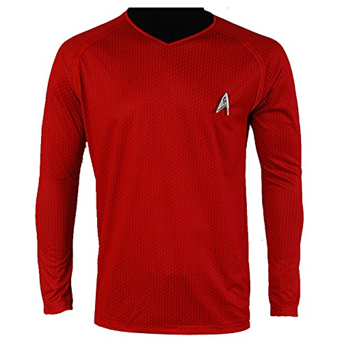 [CosplaySky Star Trek Into Darkness Scotty Shirt Uniform Costume Red Version XX-Large] (Red Star Trek Dress)