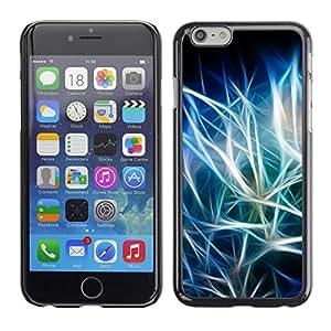 YiPhone /// Prima de resorte delgada de la cubierta del caso de Shell Armor - Blue Black Iridescent - Apple iPhone 6