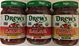 Drew's Organic Thick & Chunky Salsa Variety Pack- Hot, Medium & Mild 12 oz (pack of 3)