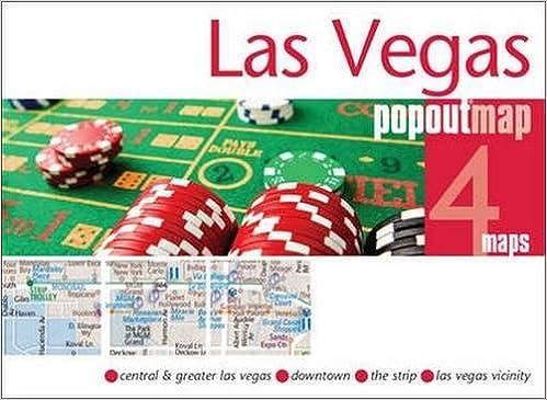 Las Vegas Popout Map  handy pocket size pop up city map of Las
