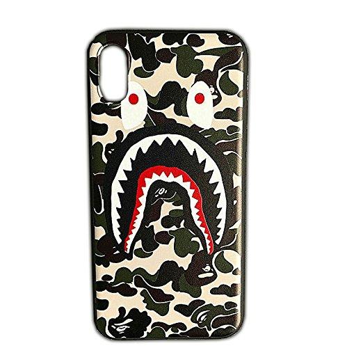 - Bape | A Bathing Ape iPhone X 10 Phone Case | Green Camouflage Shark Jaw