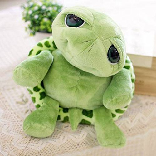 [edealing(TM) Lovely Big Eyes Small Turtle Doll Baby Toy Cute Doll Plush Toys For Kids -Green] (Plush Turtle Kids Costumes)