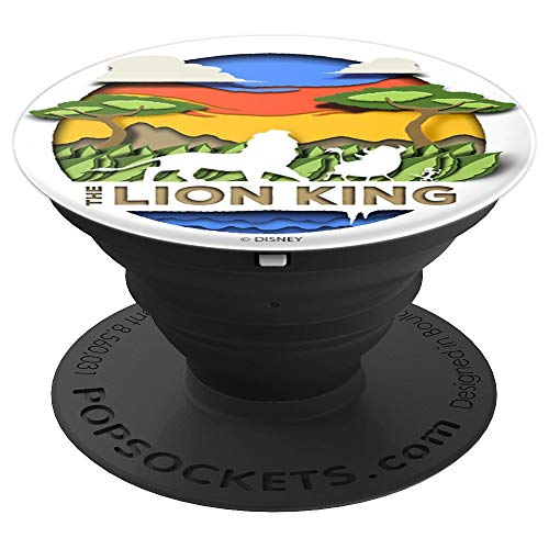 Disney The Lion King Simba Timon Pumbaa Paper Diorama Sunset - PopSockets Grip and Stand for Phones and ()