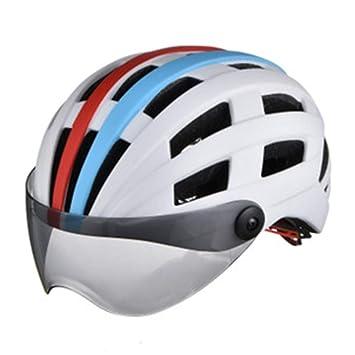 Casco con Gafas Protectoras, Casco De Bicicleta De Una Pieza, Casco Helado, Casco