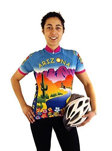 Free Spirit Wear Womens Arizona Cycling Jersey Medium