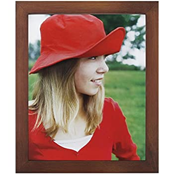 RPJC 8x10 Picture Frames Made of Solid Wood High Definition Glass for Table Top Display and Wall Mounting Photo Frame Brown
