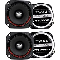4) New Pyramid TW44 1 1200W Heavy Duty Titanium Dome Bullet Car Super Tweeters