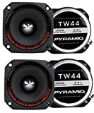 4) New Pyramid TW44 1'' 1200W Heavy Duty Titanium Dome Bullet Car Super Tweeters
