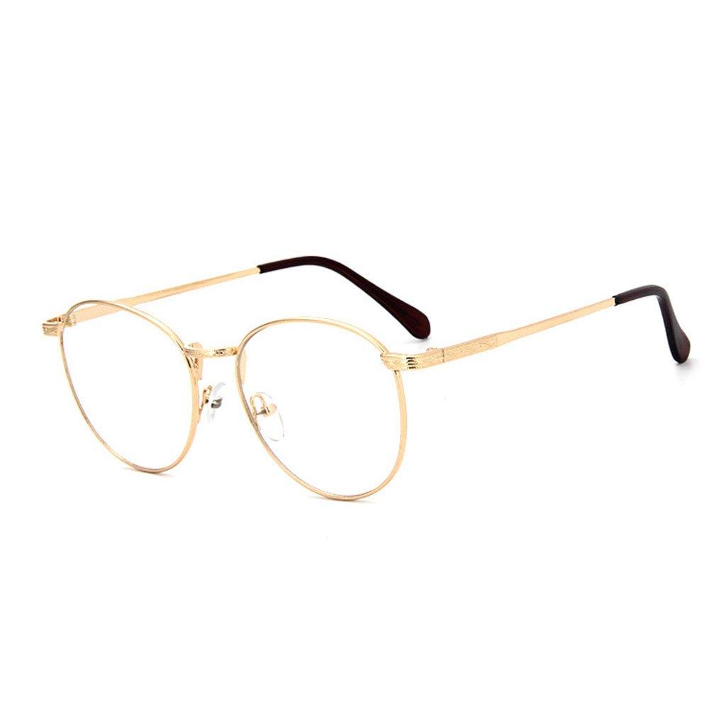D.King Retro Round Metal Frames Prescription Clear Lens Eyeglasses Frames DK6082978-1