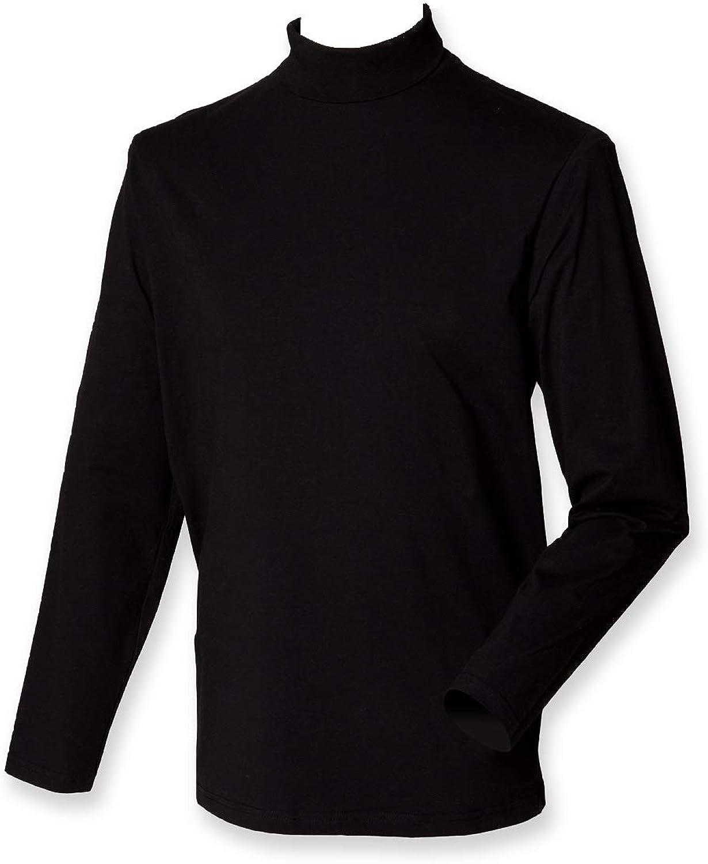 Henbury Mens Long Sleeve Roll Neck Top