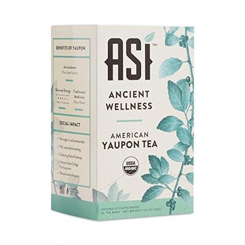 Asi Yaupon Tea Organic Box, Ancient Wellness - Traditional, 20 Tea Bags