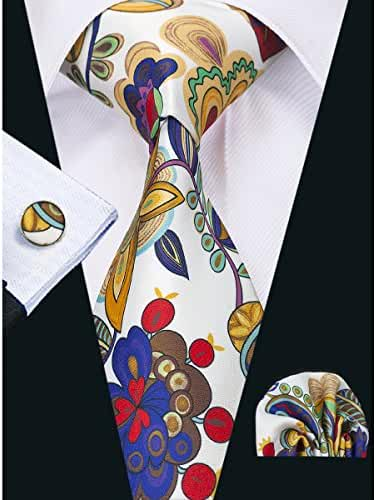 Hi-Tie Designer Floral Necktie Set for Holiday