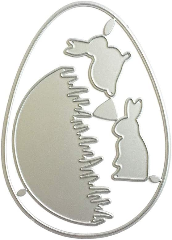 Happinter Die Cuts,Easter Bunny Metal Cutting Die Cuts for Card Making Metal Mould Template for DIY Scrapbook Album Embossing Crafts Decor