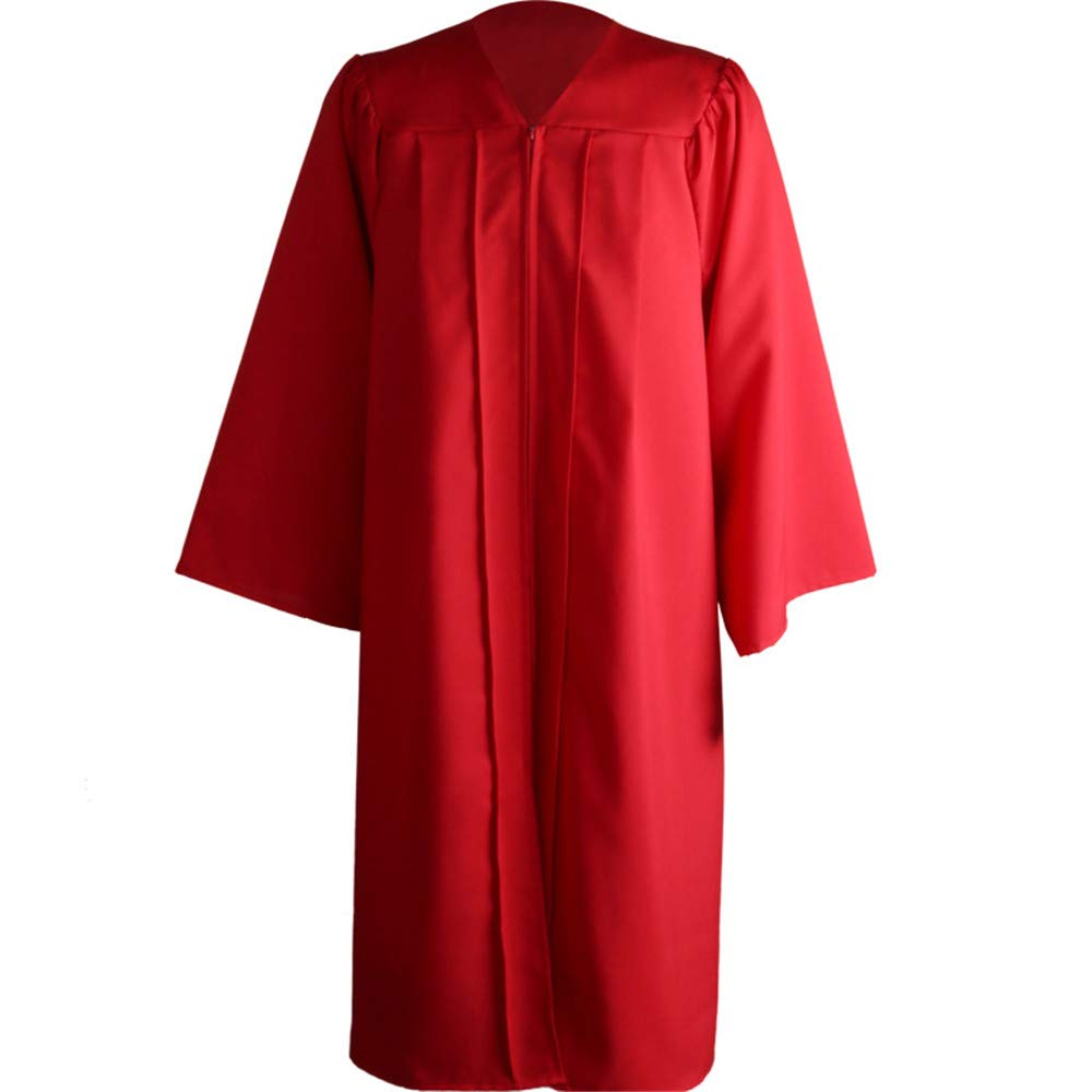 ZQ Graduation Gown Matte Graduation Gown Cap Quaste Set 2019 f/ür Highschool und College-Zeremonie,Red,L
