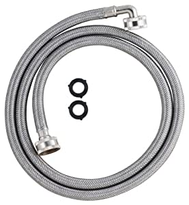 LDR 504 1235 Washing Machine High Pressure Stainless Steel Reinforced Gooseneck Inlet Hose, 5-Foot