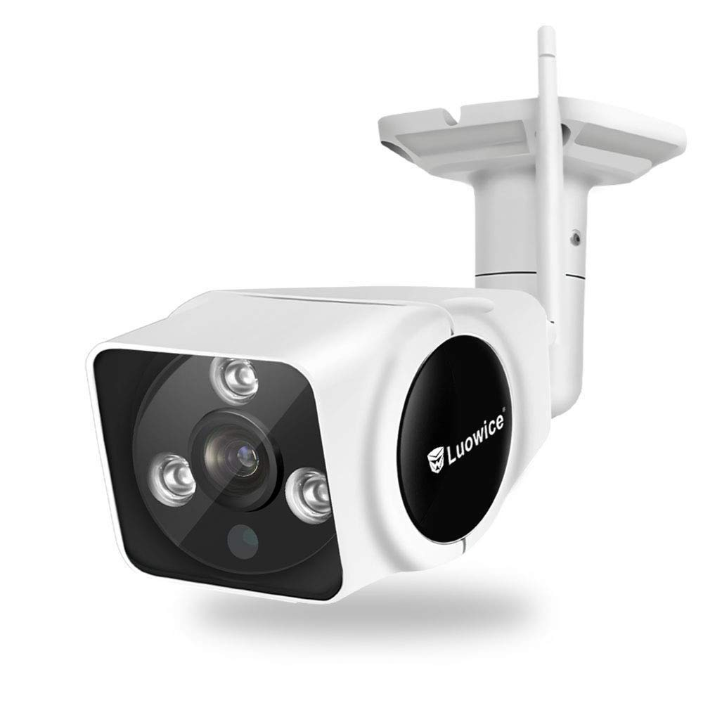 Luowice WiFi Security Camera Outdoor 1080P Wireless IP Camera with Intercom Function HD Surveillance Camera 100ft Night Vision and Support Micro SD Card IP66 Waterproof