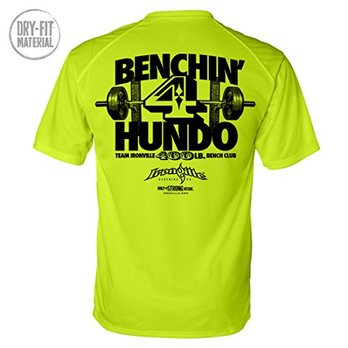 Ironville 400 Pound Bench Press Club Dri-Fit Shirt 4 Hundo Series (2XL, (8599 Series)