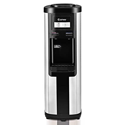 costway 5 gallon water cooler dispenser top loading stainless steel