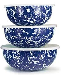 Gain 3 Piece Swirl Mixing Bowl Set Color: Cobalt Swirl saleoff