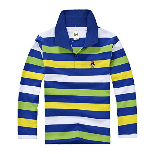 Qatar Rugby: Niyatree Child Boys Cotton Polo Rugby Shirts Pullover For