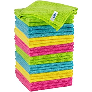 "MR.SIGA Microfiber Cleaning Cloth, Pack of 24, Size:12.6"" x 12.6"""