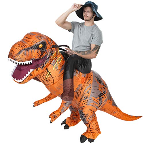 AOSKA T-Rex Riding Costumes Adult Inflatable Dinosaur Costume Fancy Dress for Halloween Party