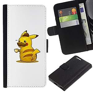 NEECELL GIFT forCITY // Billetera de cuero Caso Cubierta de protección Carcasa / Leather Wallet Case for Apple Iphone 6 PLUS 5.5 // Pika Café