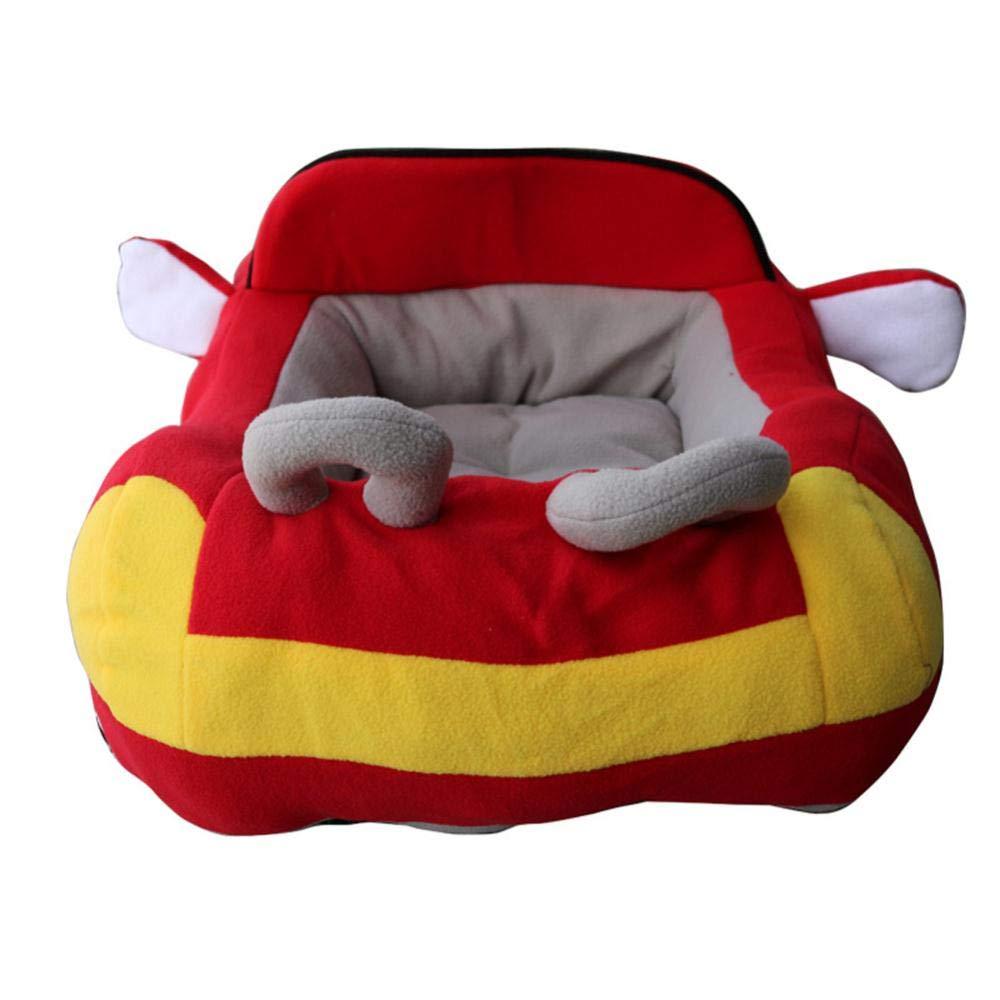 PENVEAT Racing Car Shape Pet Bed Dog Kennel Cushion Winter Cat House Warm Soft Puppy Sofa Mat,Black,70cm x 50cm x 30cm