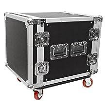 Seismic Audio-10 Space Rack Case Amp Effect Mixer PA/DJ-Wheel/Casters