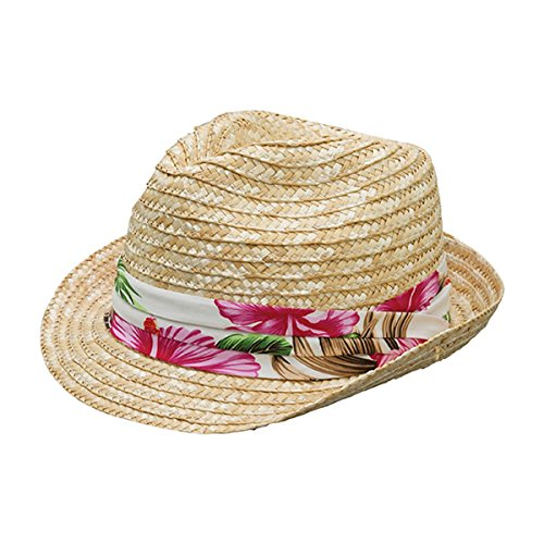 Hats & Caps Shop WHEAT BRAID STRAW FEDORA - By TheTargetBuys | (NATURAL)