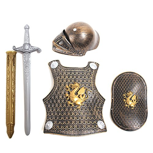 Roman Armor Set Costumes (Samber Children Halloween Costume Kids Knight Set Roman Warriors Cosplay)