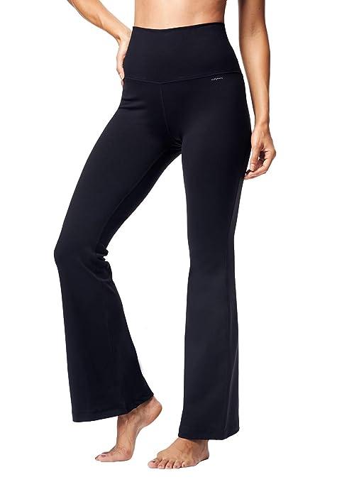 6e2290a34 Matymats Women s High Waist Bootcut Yoga Pants Tummy Control Active Workout  Flare Bootleg Pants with Pockets