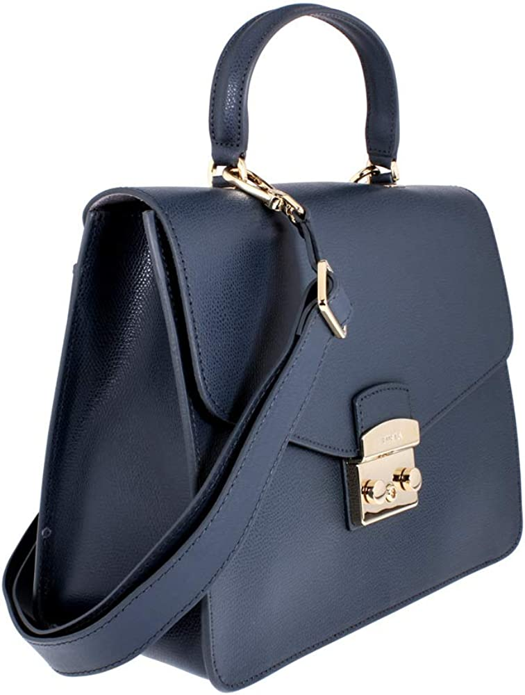 Furla Metropolis Ladies Medium Gray Ardesia Leather Shoulder Bag 978074