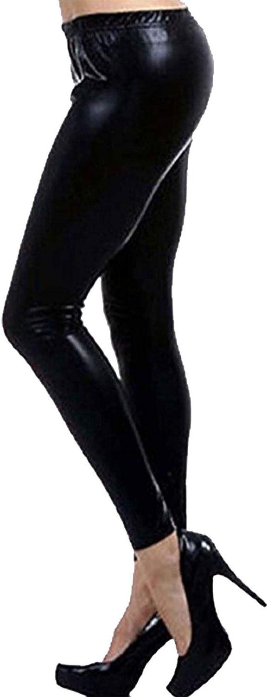 Islander Fashions Leggings Shinny Filles pour Femmes Pantalon Pantalon Disco Elastiqu lastiqu Petit 2X Grand