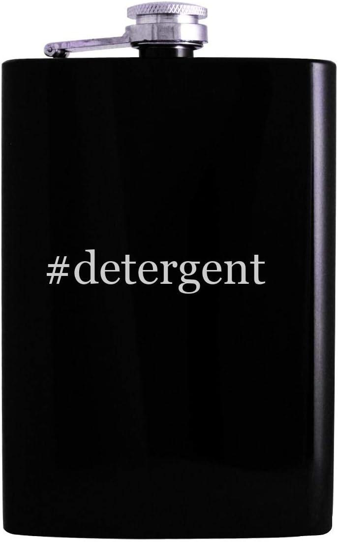 #detergent - 8oz Hashtag Hip Alcohol Drinking Flask, Black