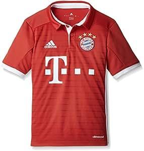 adidas FCB H JSY Y Camiseta 1º Equipación del Bayern FC, niño, Rojo/Blanco, 11-12 años