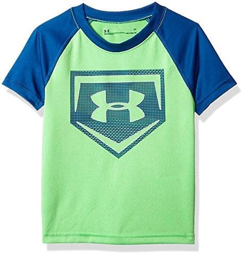 Under Armour Little Boys' Metallic Sync Homeplate Short Sleeve T-Shirt, Arena Green, ()