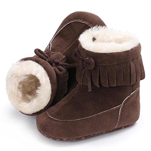 Ouneed® Krabbel schuhe , Herbst Winter Baby Soft Sole Schneestiefel weiche Krippe Schuhe Kleinkind Baumwolle Stiefel Warm Schneestiefel Coffee