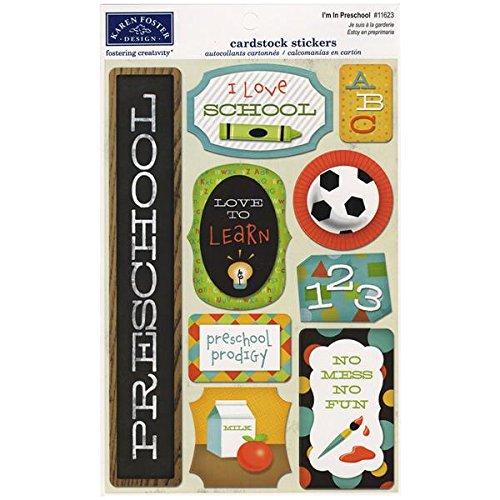 - KAREN FOSTER Design Acid and Lignin Free Scrapbooking Sticker Sheet, I'm in Preschool
