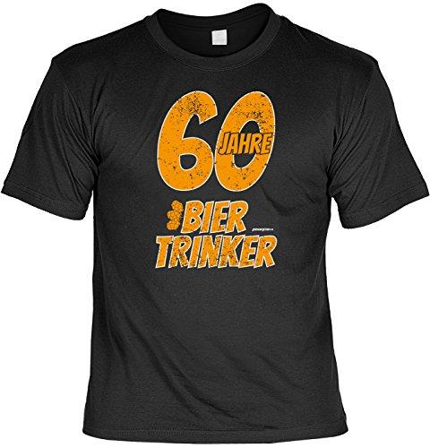 T-Shirt - 60 Jahre Biertrinker -lustiges Sprüche Shirt als Geschenk für Geburtstagskinder mit Humor