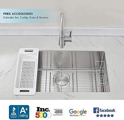 Modena Undermount Kitchen Sink Set 16 Gauge Stainless Steel 30 Inch Single Bowl Amazon Sg Home Improvement