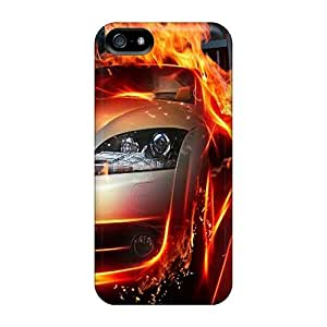 LJF phone case Excellent Design Fire Race Case Cover For Iphone 5/5s