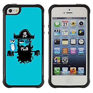 Hybrid Anti-Shock Defend Case for Apple iPhone 5 5S / Pirate & Parrot