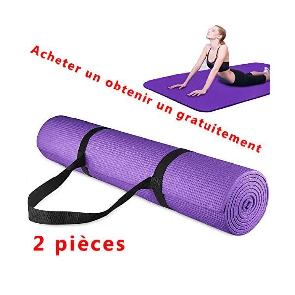 Vavshop Tapis de Yoga Tapis de Fitness Antidérapant d'exercice Fitness Tapis de Pilates,Tapis Débutant Perte De Poids pour Fitness, Pilates accessoires de fitness [tag]