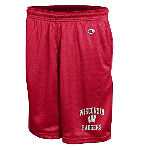(Elite Fan Shop Wisconsin Badgers Mesh Shorts - L -)