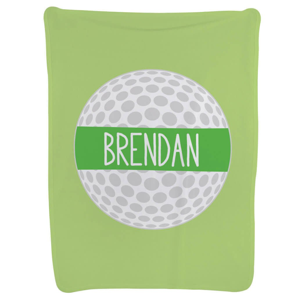 Golf Baby & Infant Blanket   Personalized Golf Ball   Light Green