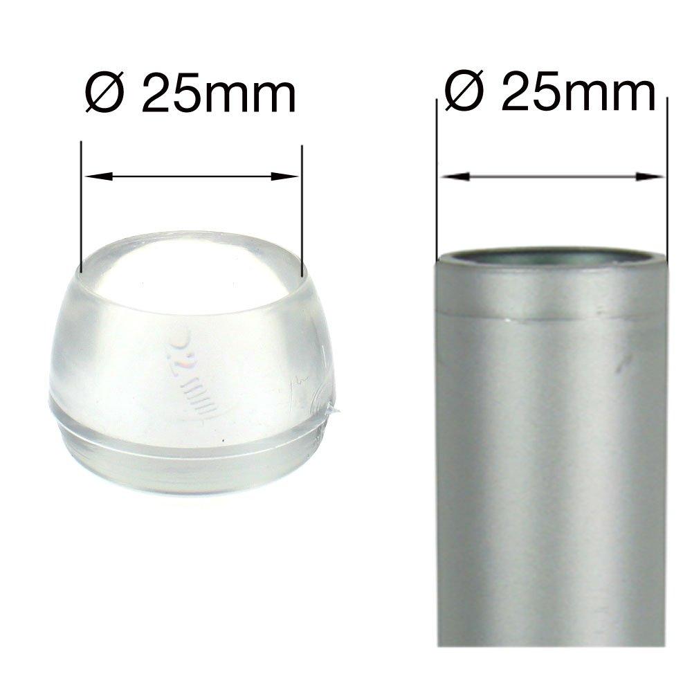 22 mm Lifeswonderful/® in vielen Gr/ö/ßen und Mengen 16 St/ück durchsichtig Schutzkappen f/ür M/öbel